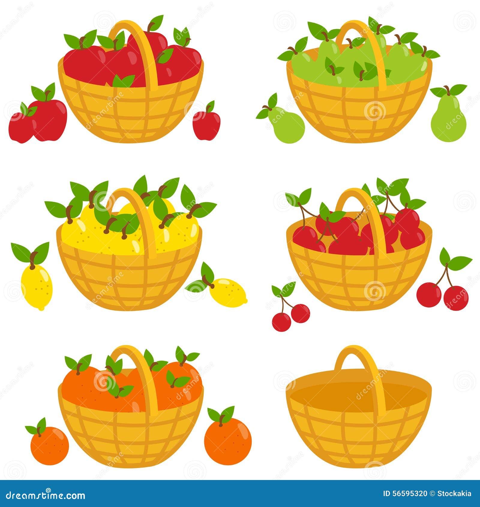 Fruit Baskets Stock Vector