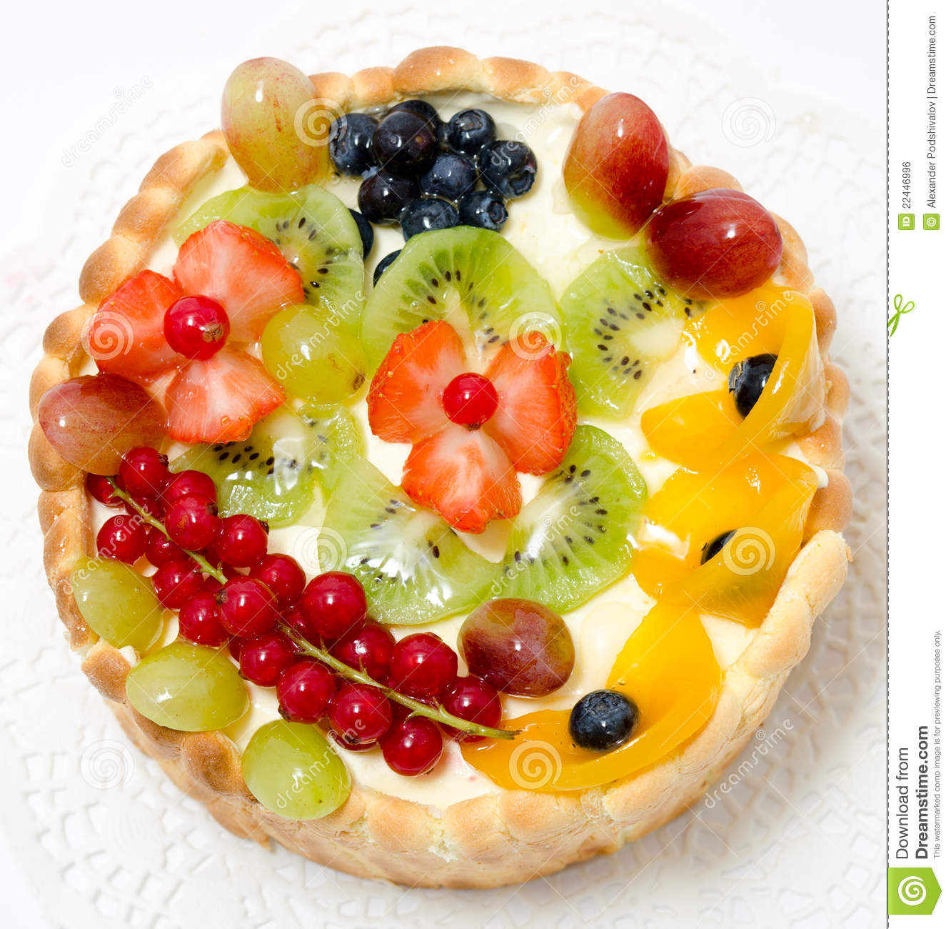 Cake With Fruits On Top : Fruit And Berry Cake Royalty Free Stock Image - Image ...