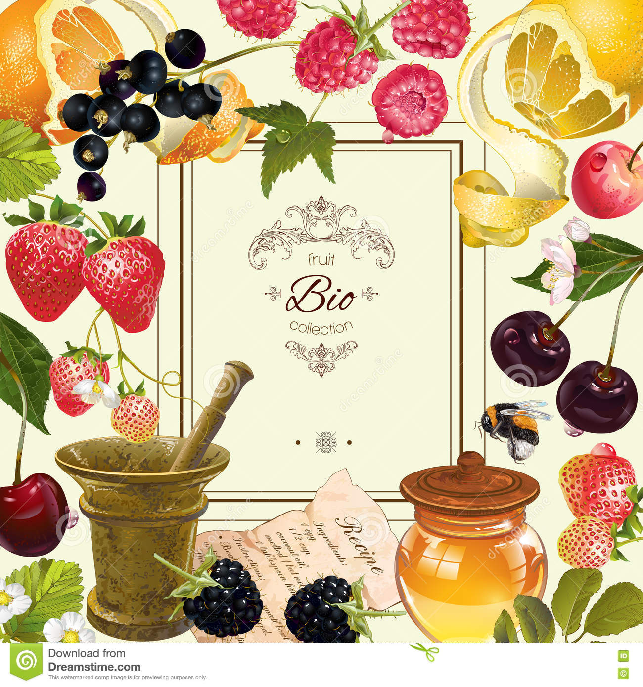 Fruit and berry frame