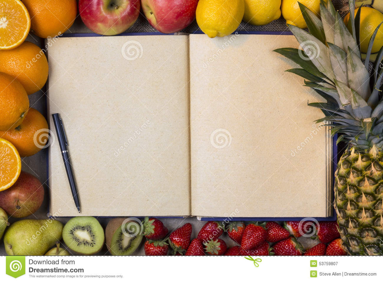 fruit and blank recipe book space for text stock photo open book clip art images open book clip art black and white