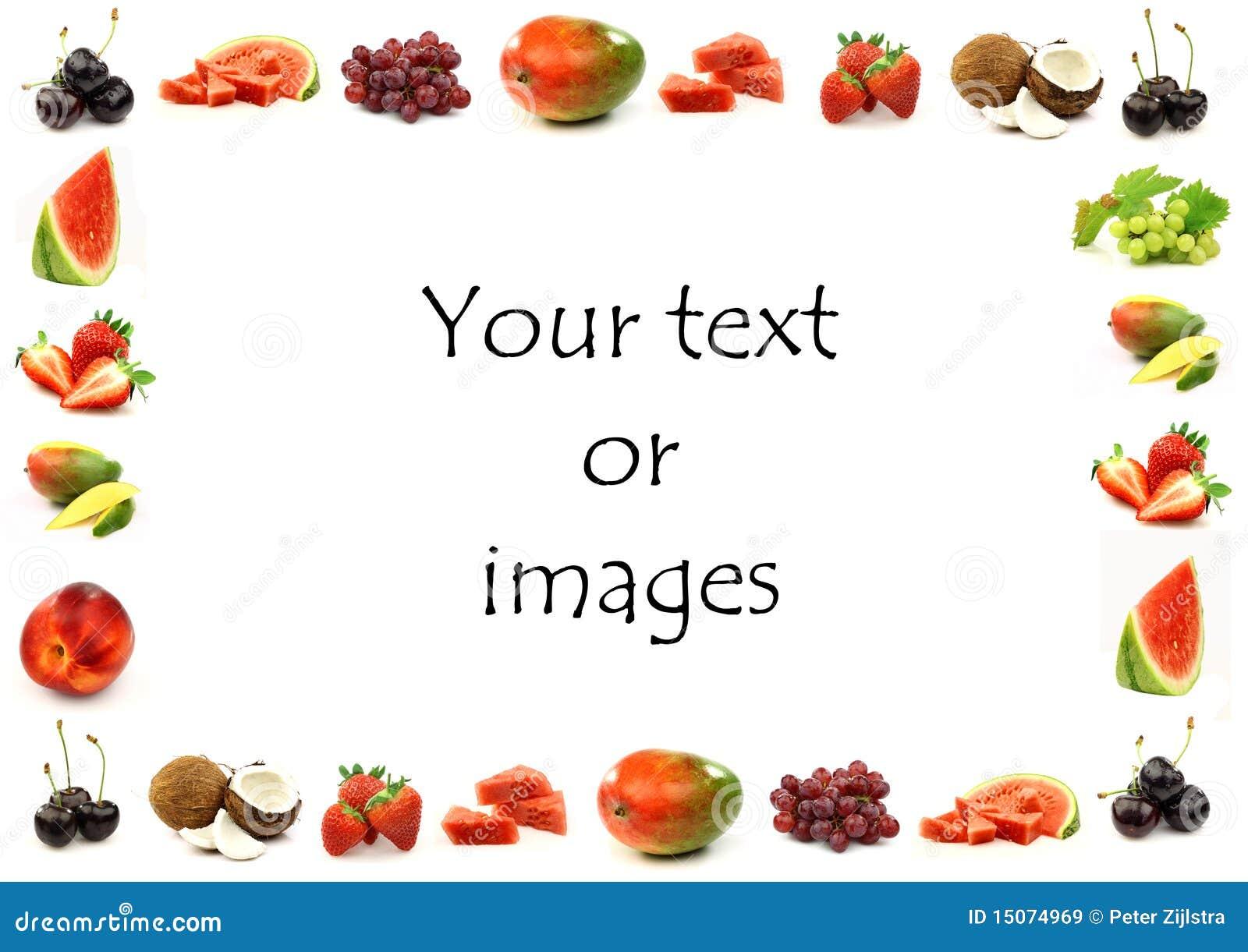 Fruit border royalty free stock images image 15074969