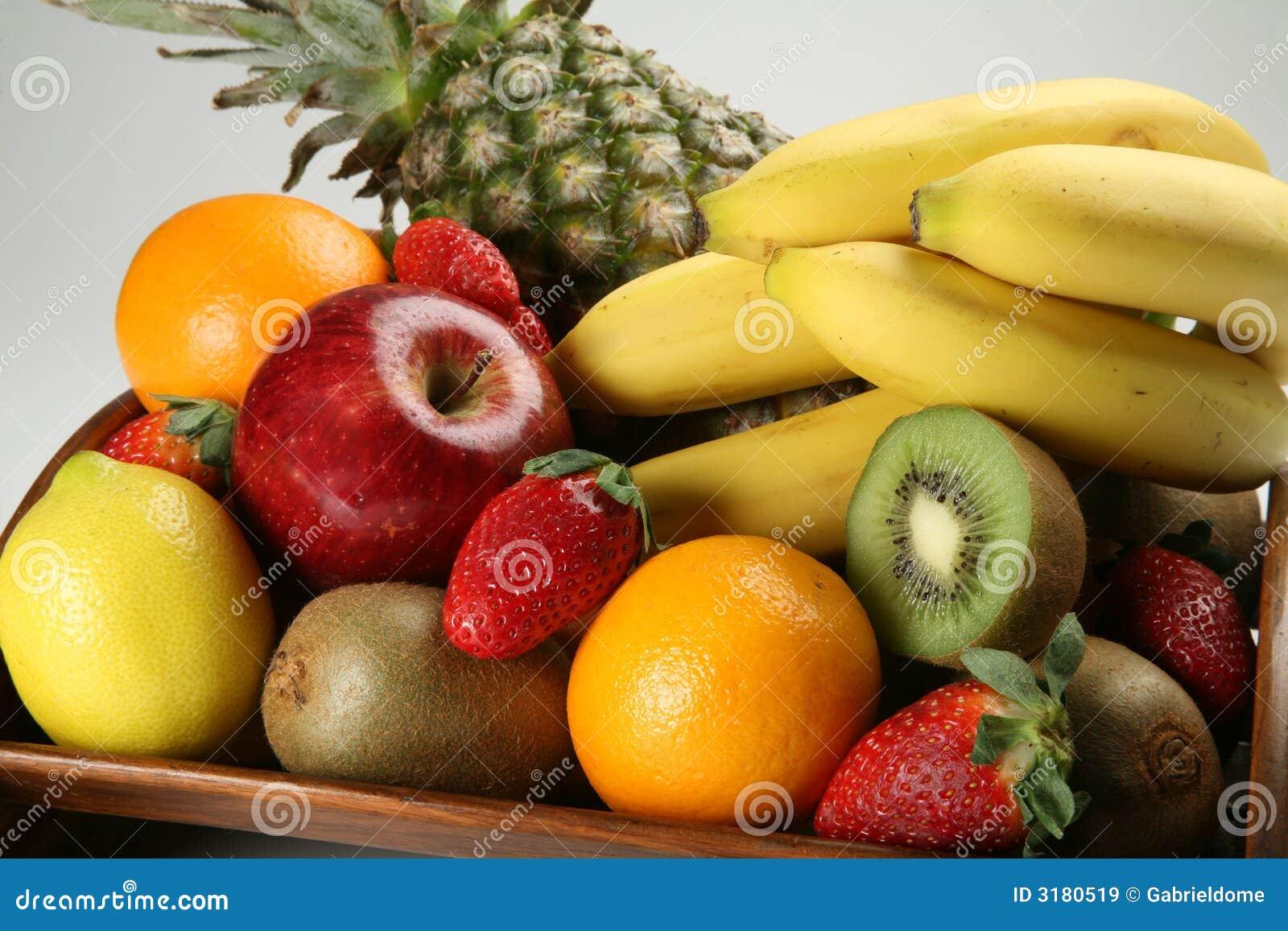Fruit Bowl With Fresh Fruits Stock Image Image Of Food