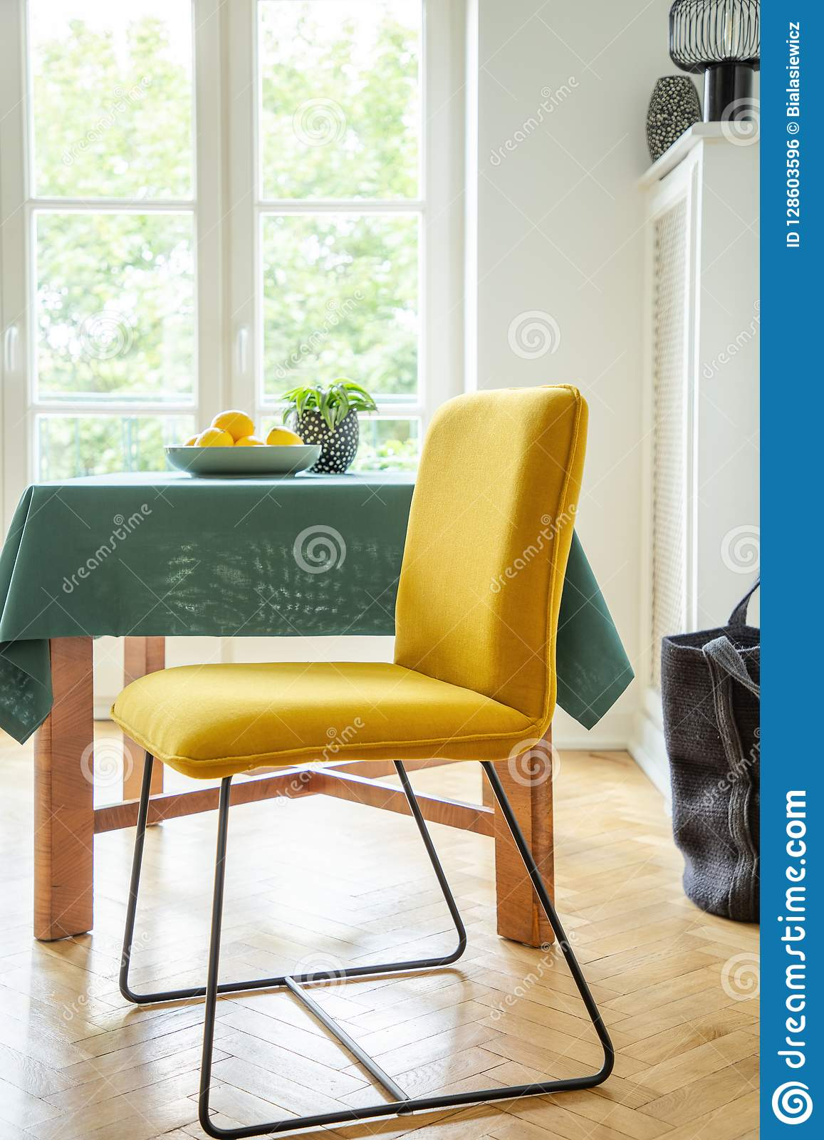 Strange Fruit Bowl On A Wooden Table And A Modern Chair With Bright Creativecarmelina Interior Chair Design Creativecarmelinacom