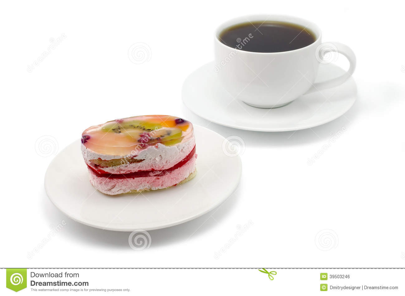 Fruit cake and cup of tea
