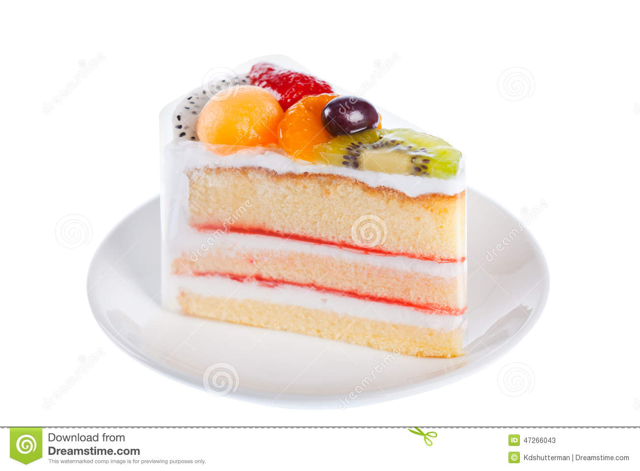 Cake With Fruits On Top : Fruit Cake Stock Photo - Image: 47266043