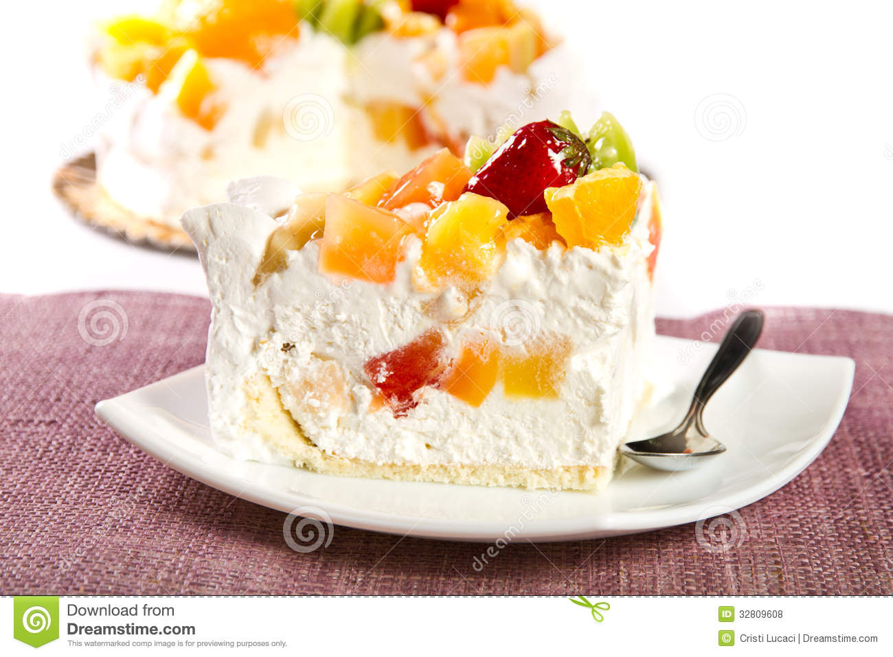 Vanilla Cake With Fruit Decoration