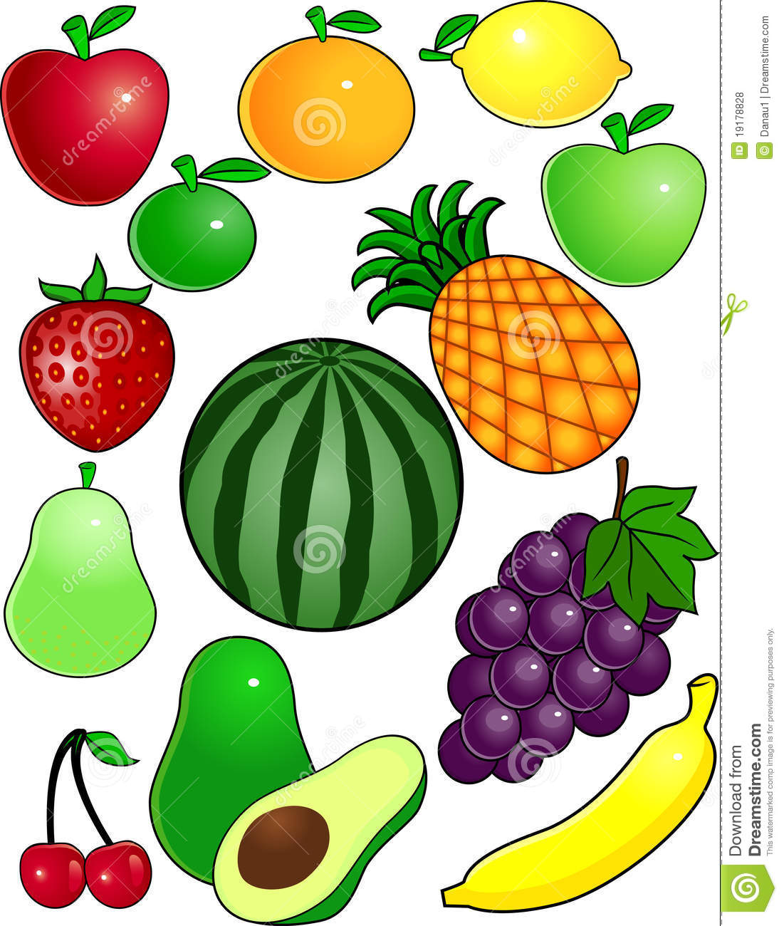 Fruit Cartoon Royalty Free Stock Photos - Image: 19178828