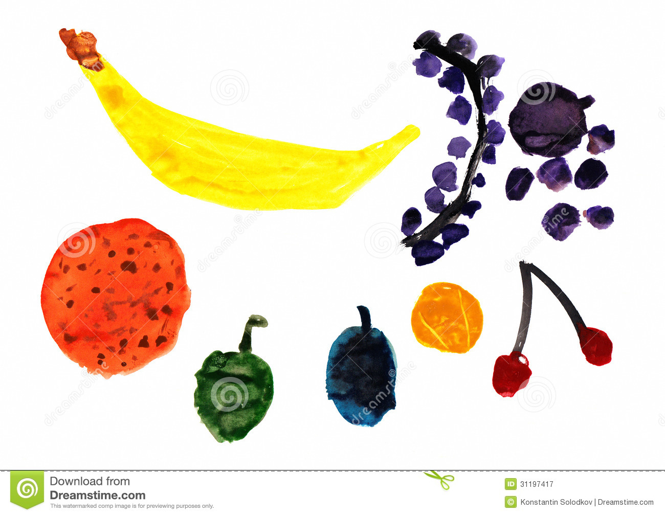 Fruit Childrens Drawing Royalty Free Stock Photography Image 31197417