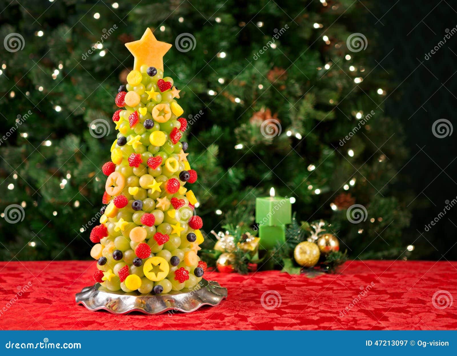 Christmas Tree Fruit.Fruit Christmas Tree Stock Image Image Of Food Tree 47213097
