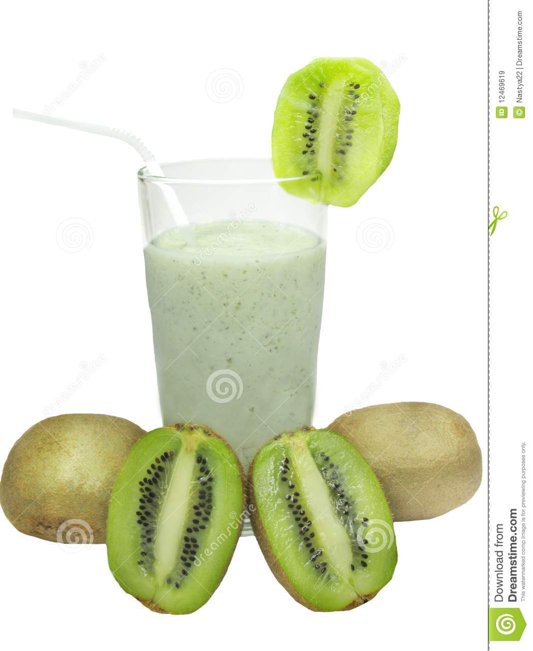 Fruit cocktail with kiwi royalty free stock images image for Cocktail kiwi