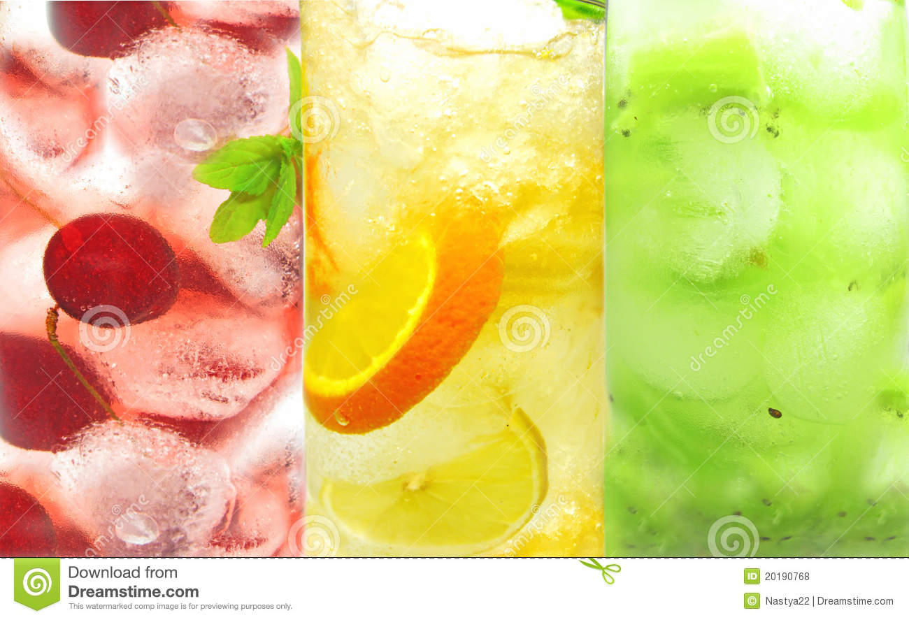 Fruit Cold Lemonade Assortment Royalty Free Stock Photos - Image ...