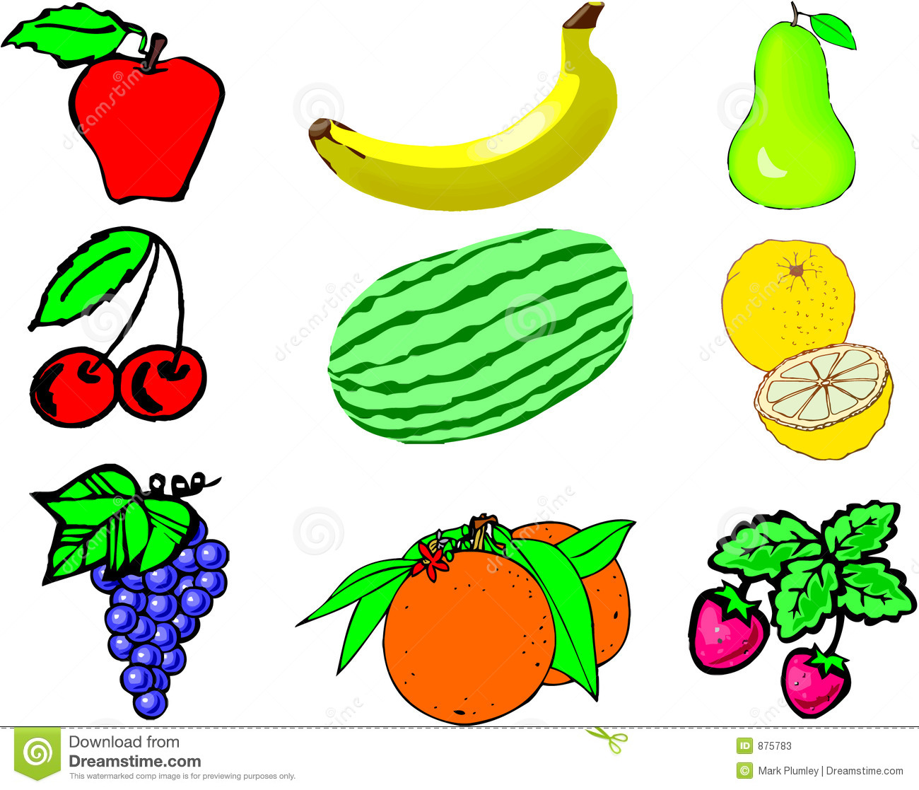 Fruit Collage Stock Photos - Image: 875783