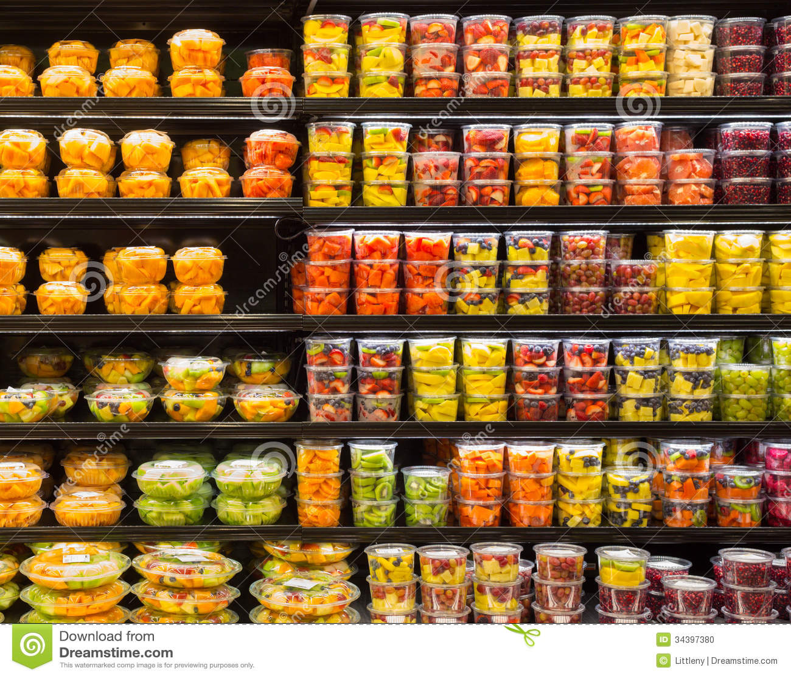 Fruit Containers Stock Photo Image Of Citrus Dessert