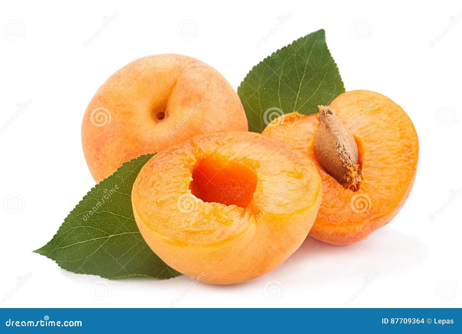 Fruit d abricot sur le blanc