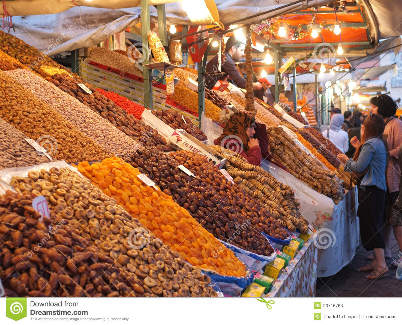 Fruit and date stall in marrakech medina editorial stock photo image