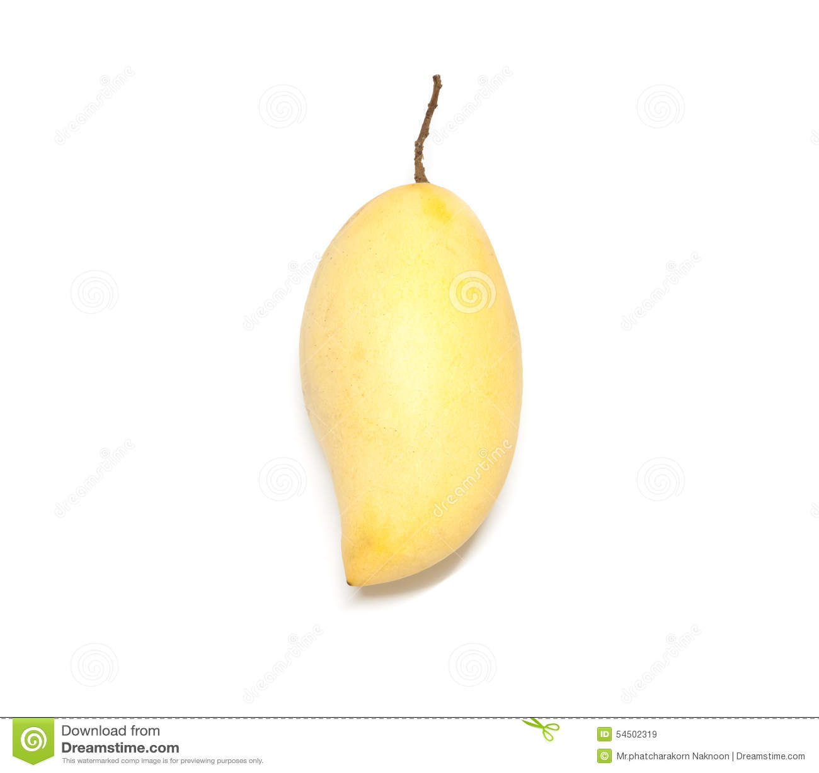 Fruit de mangue sur le fond blanc