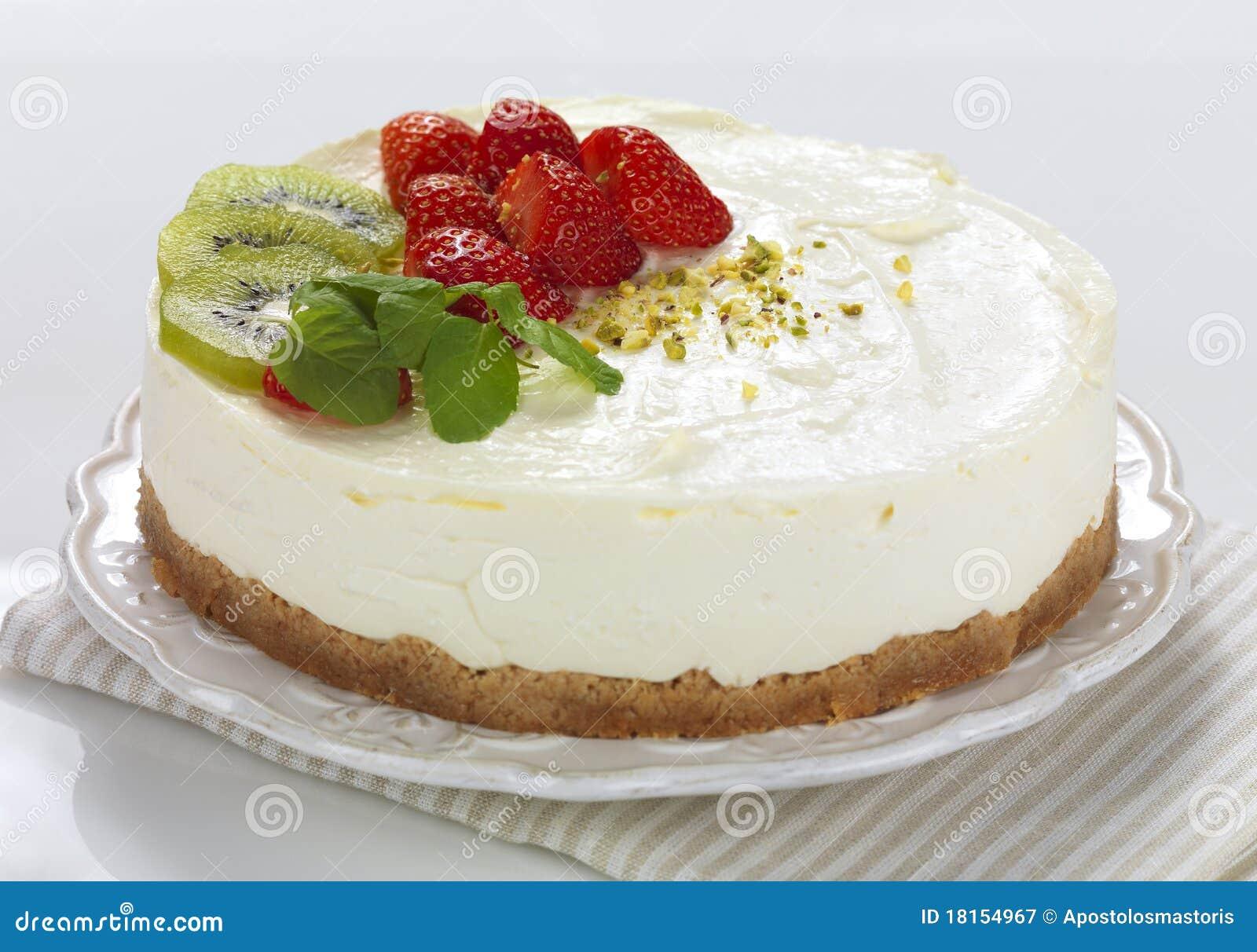 Бисквитный торт с кремом чиз рецепт