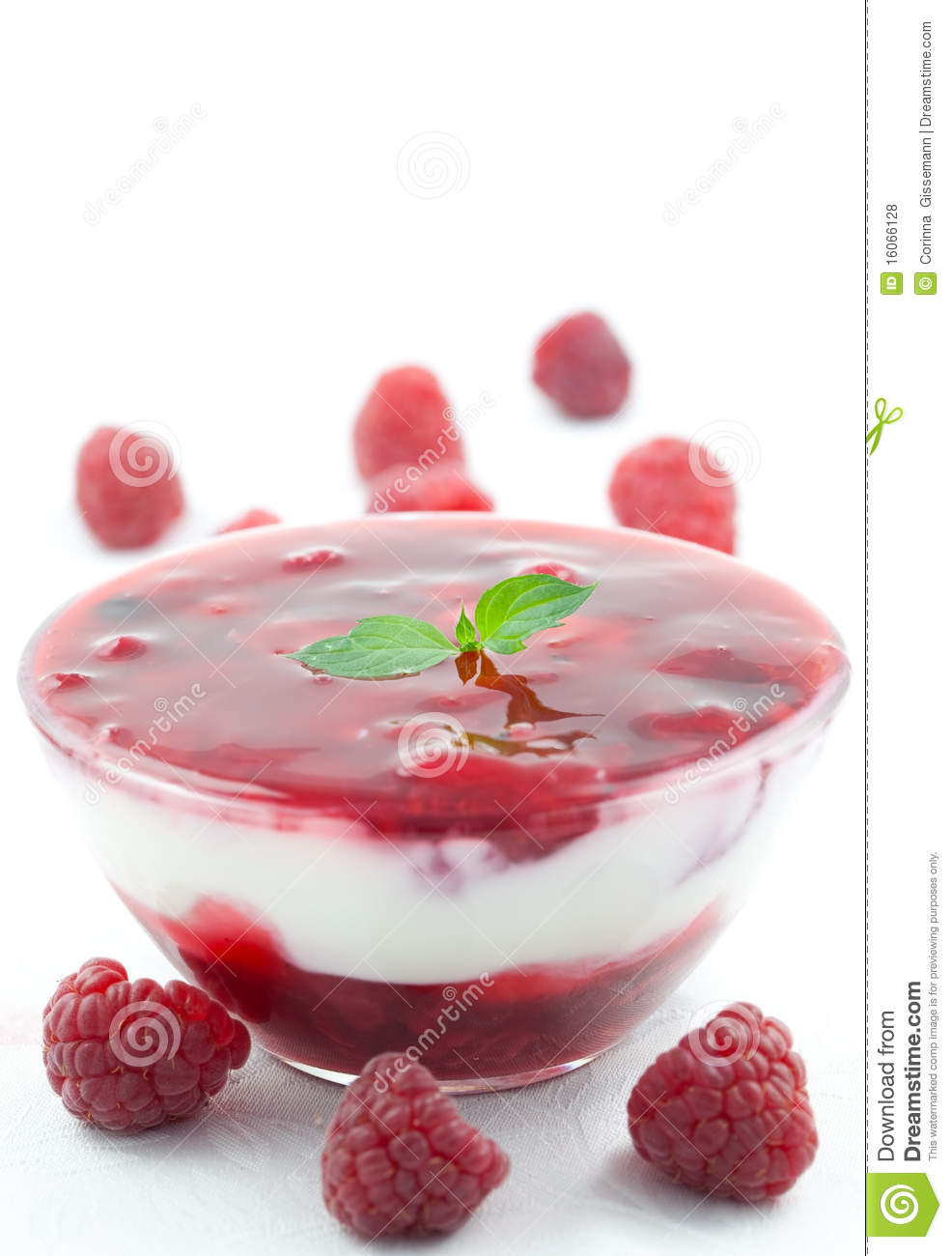 Fruit Dessert With Yogurt Royalty Free Stock Photos ...