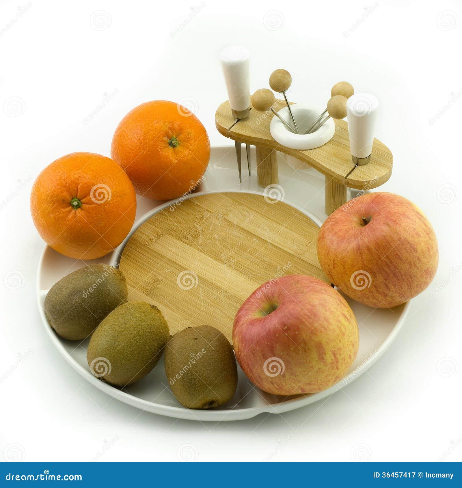 Fruit on plate stock image  Image of stiil, brown
