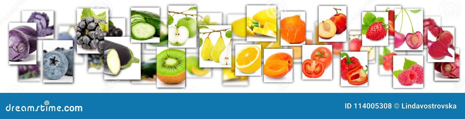 Fruit en plantaardige mengeling