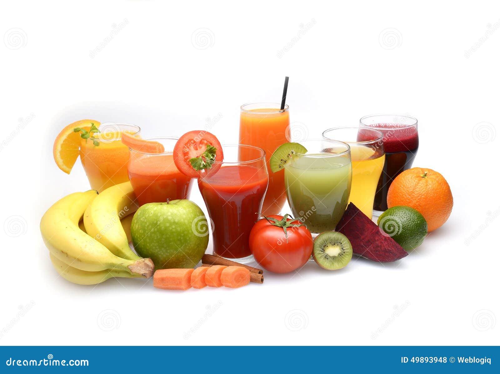 Fruit frais et jus de légumes