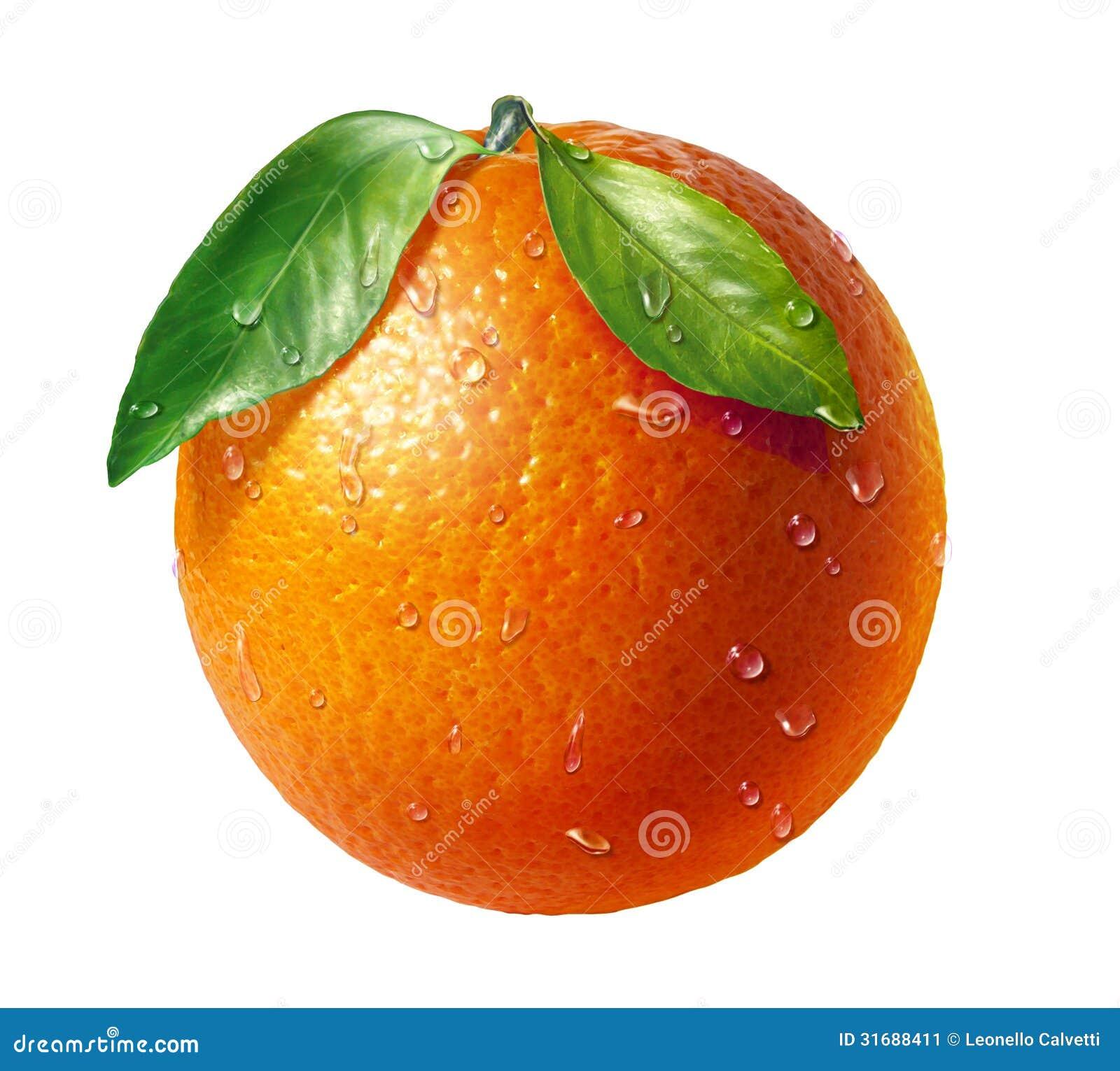 fruit frais orange avec deux feuilles et gouttelettes d 39 eau au fond blanc image stock image. Black Bedroom Furniture Sets. Home Design Ideas