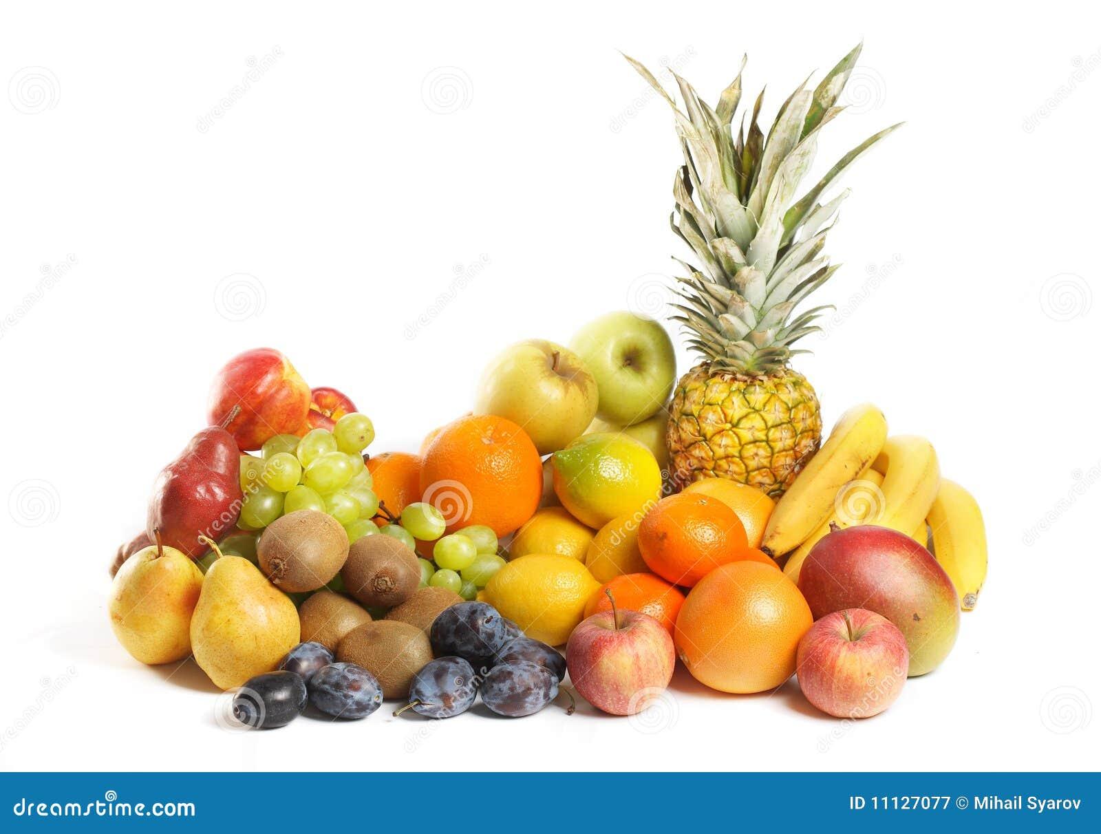 Fruit Group On White Background Royalty Free Stock ...