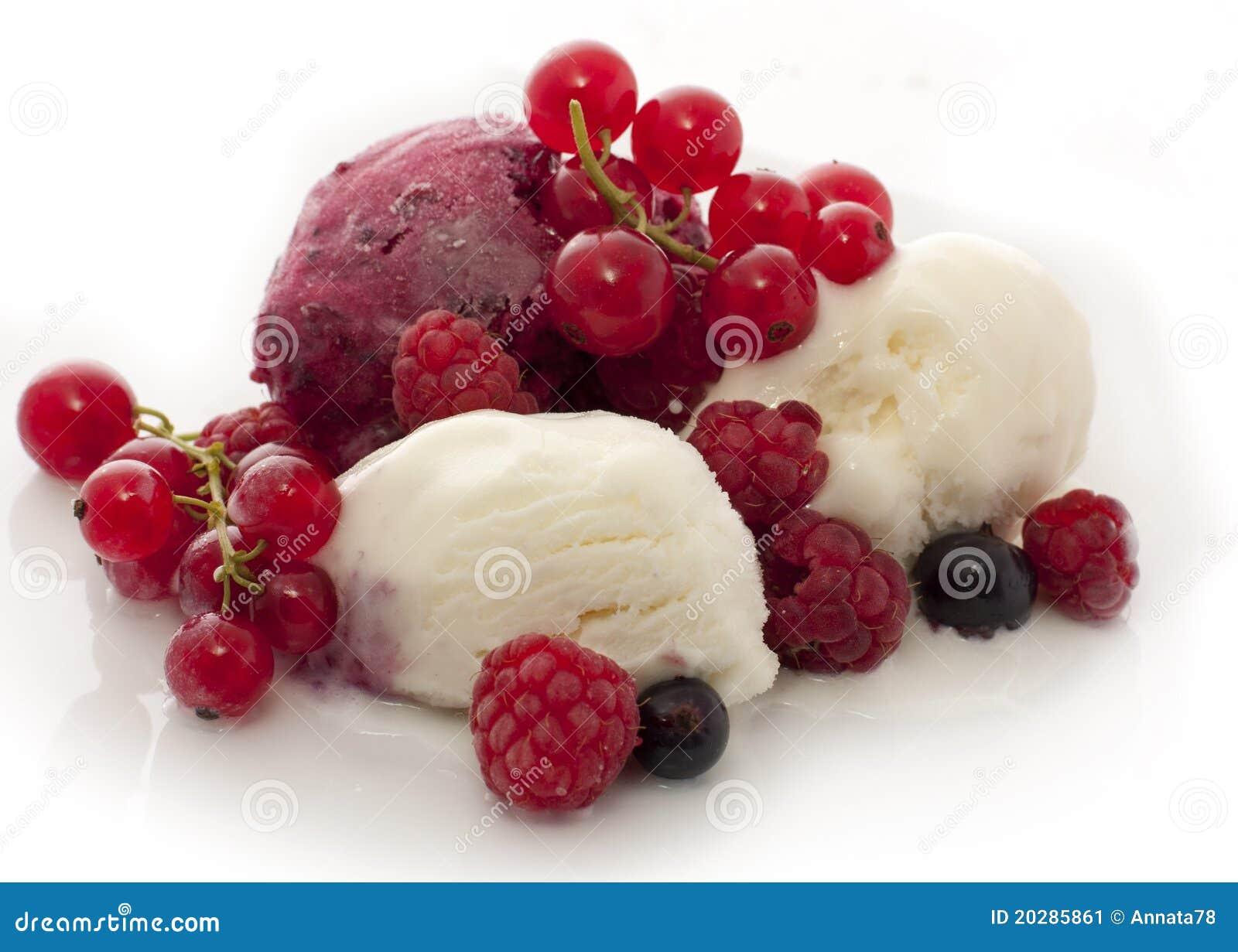 Fruit Ice Cream Stock Image - Image: 20285861