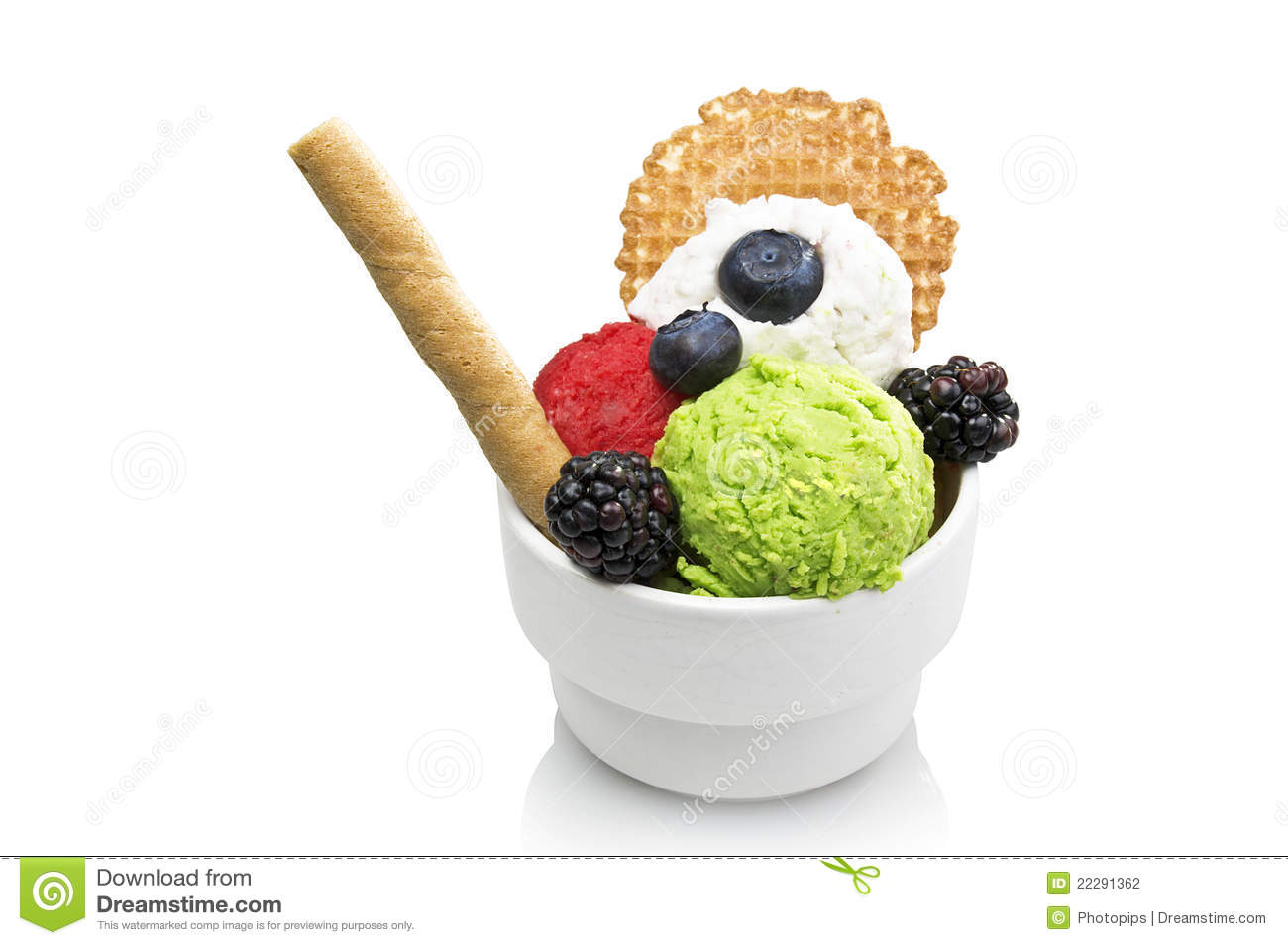 Fruit Ice Cream Stock Photography - Image: 22291362