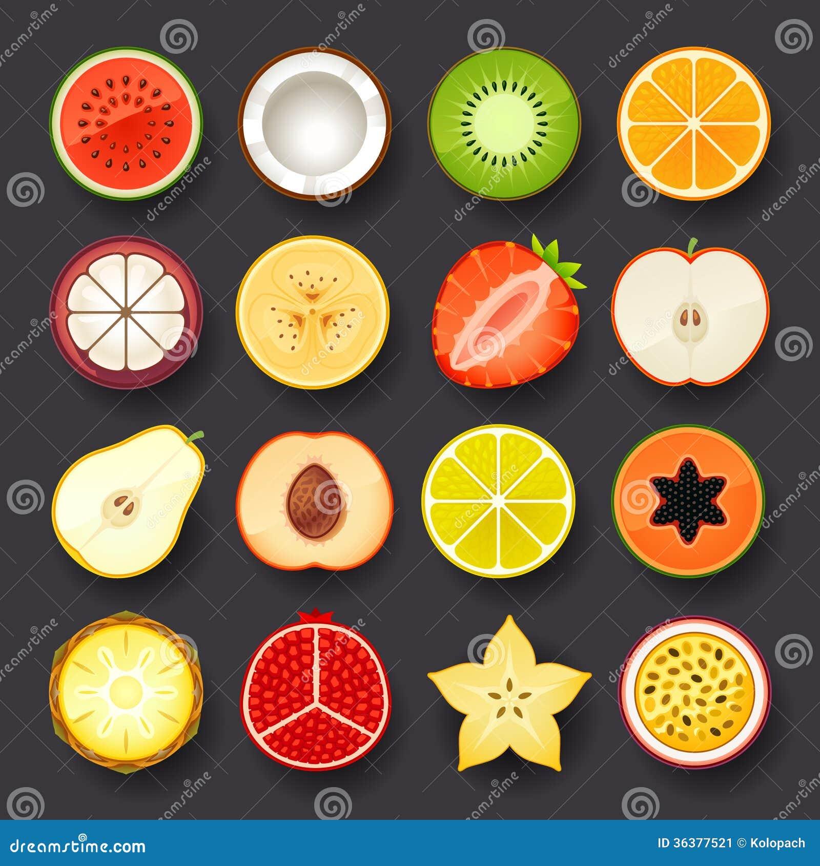 Fruit Icon Set Stock Image - Image: 36377521