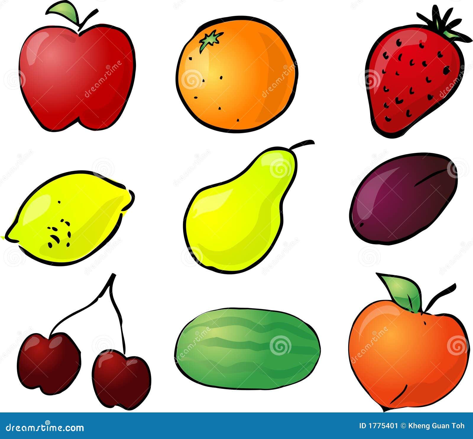 Fruit illustration stock image image 1775401 for Clipart frutta