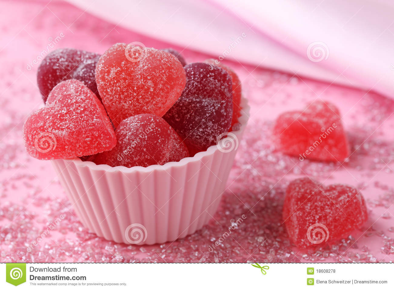 Fruit Jellies Candy Hearts Royalty Free Stock Photos - Image: 18608278