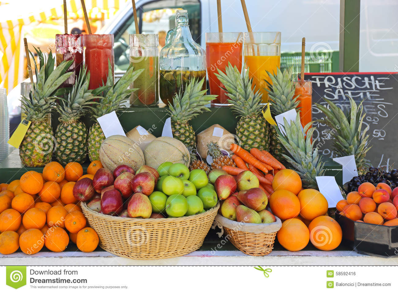 Fruit juice bar stock photo image of juicing melon Good fruity drinks to get at a bar