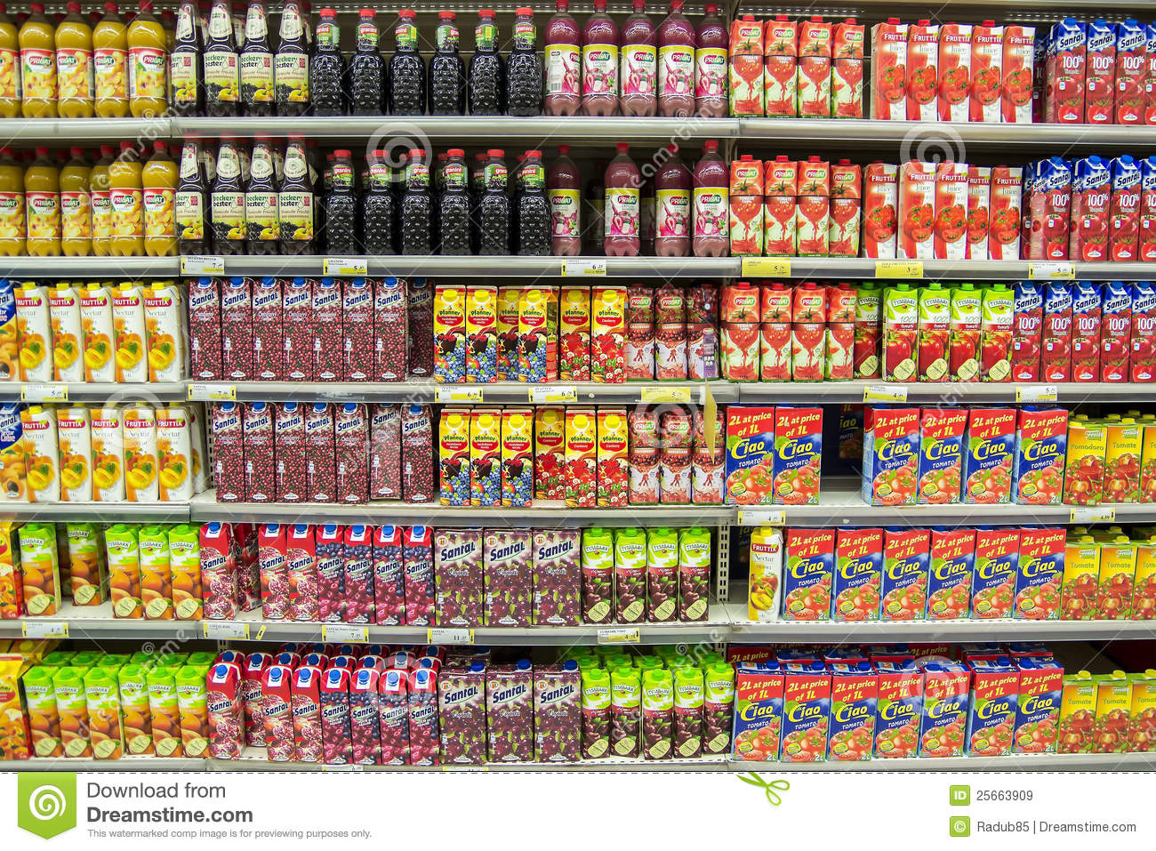 Natural Juice Products In Stores