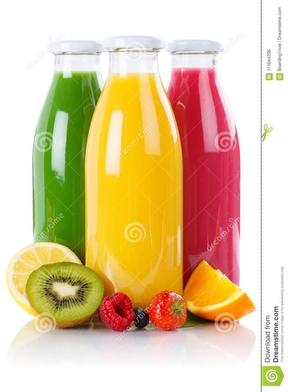 Fruit juice smoothie fruits smoothies in bottle vertical isolate