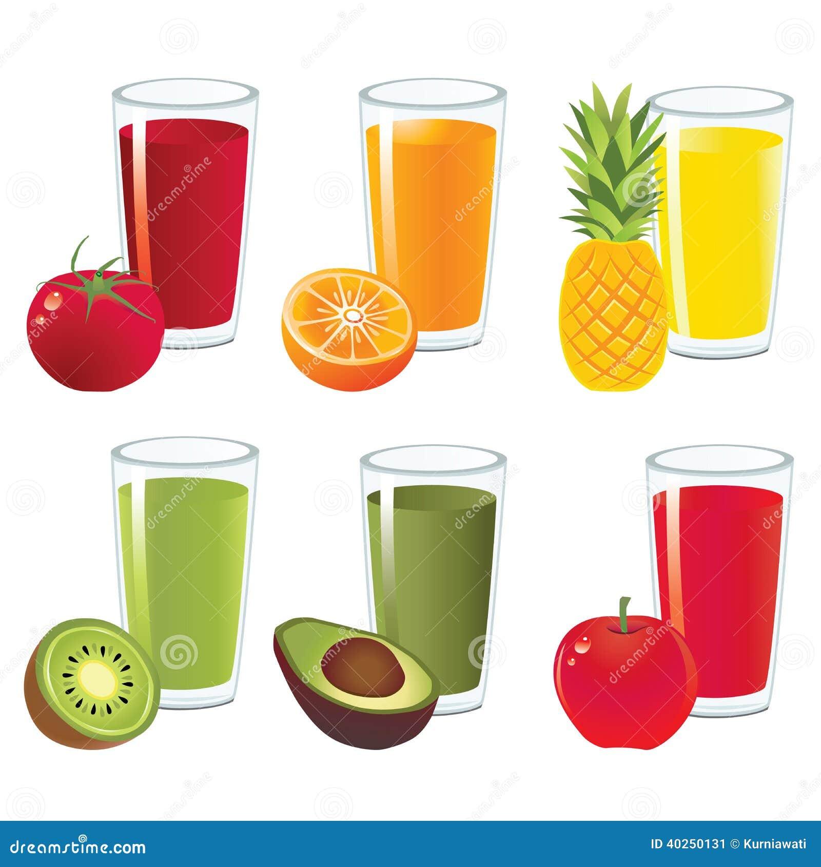 Fruit Juice Vector Stock Vector Image 40250131
