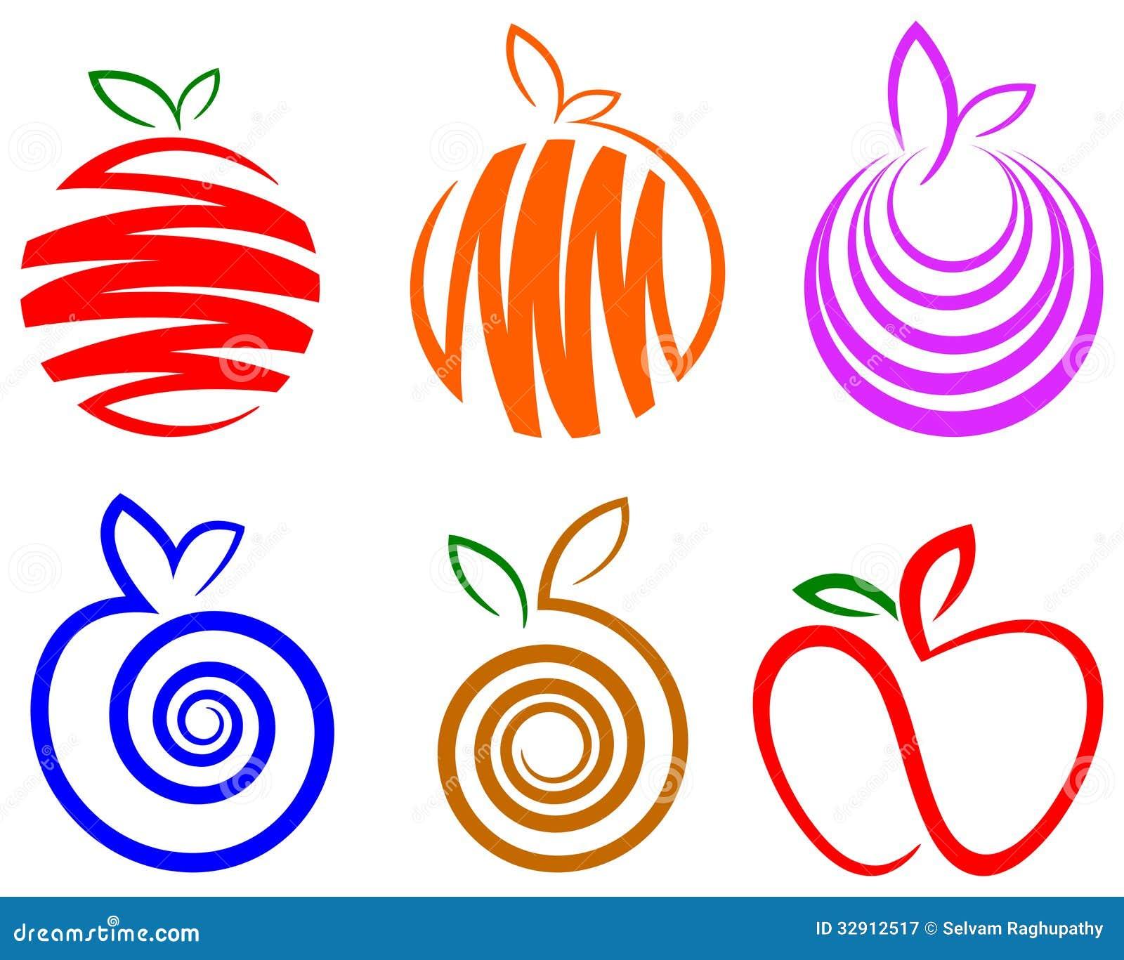 fruit logo set stock illustration illustration of leaf logo free leaf logo vector