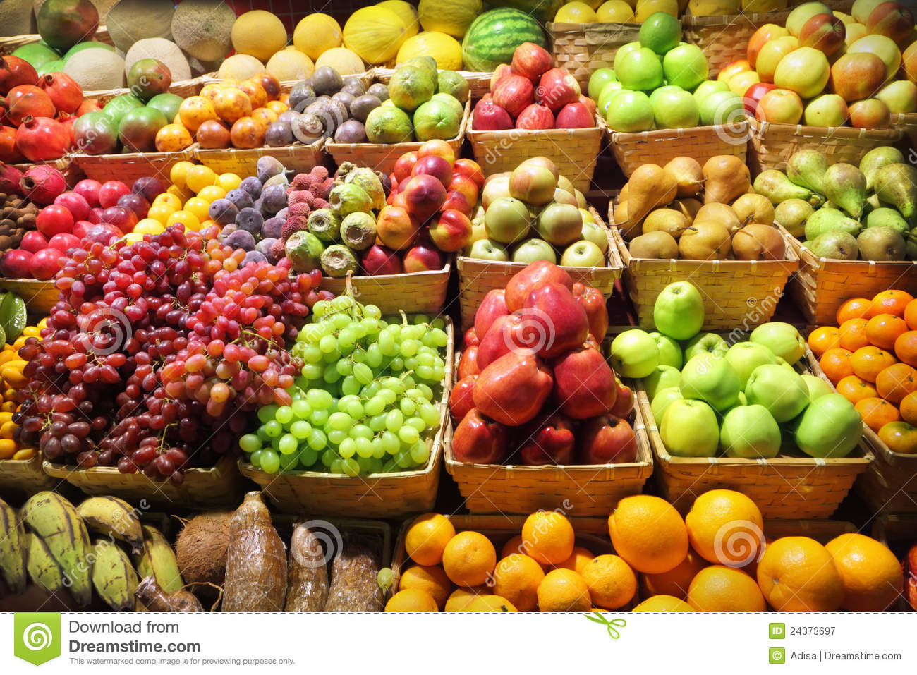 Fruit Market Royalty Free Stock Photography - Image: 24373697