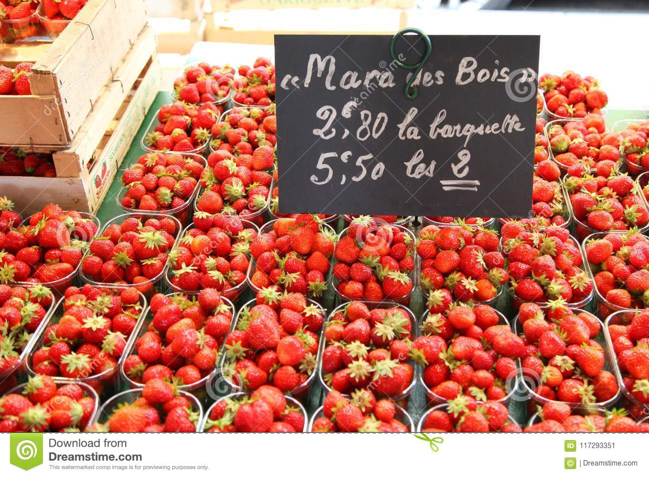 Fruit Market In Normandy France Strawberry Stock Image Image Of Berry Fruits 117293351