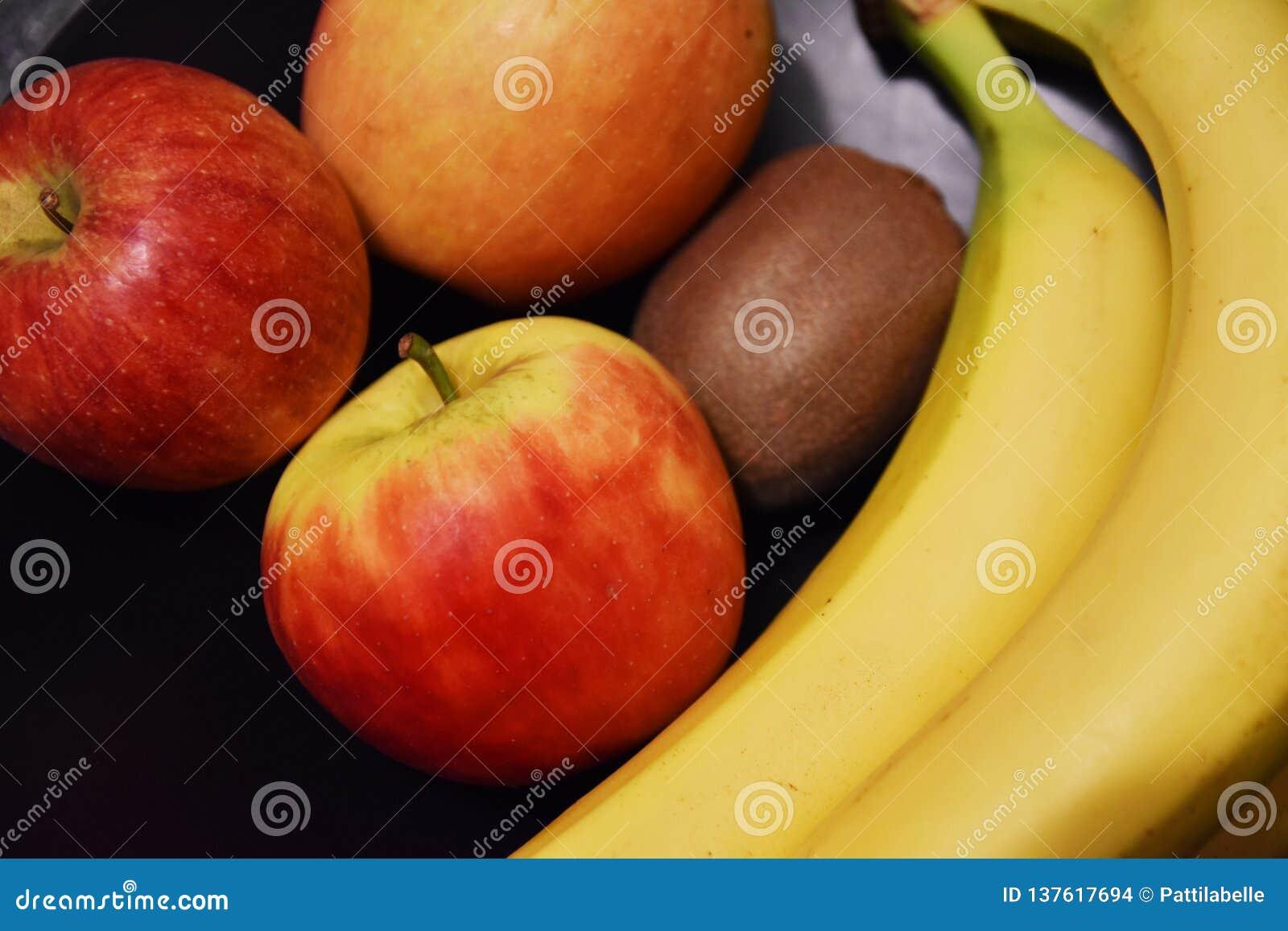 Fruit mix - bananas apples kiwis
