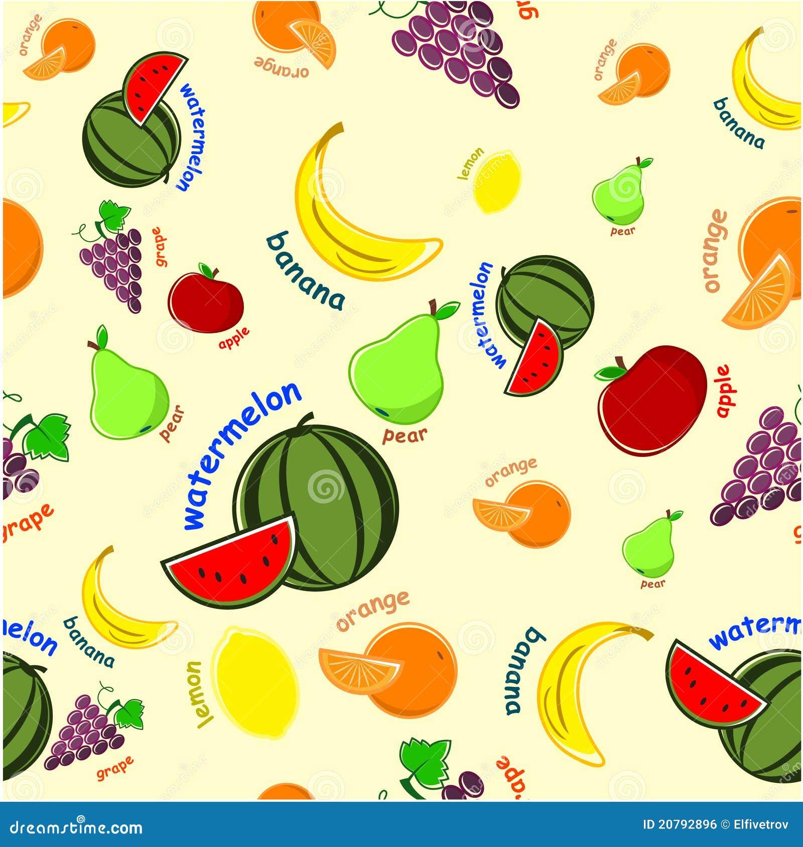 Fruit Pattern Royalty Free Stock Image - Image: 20792896