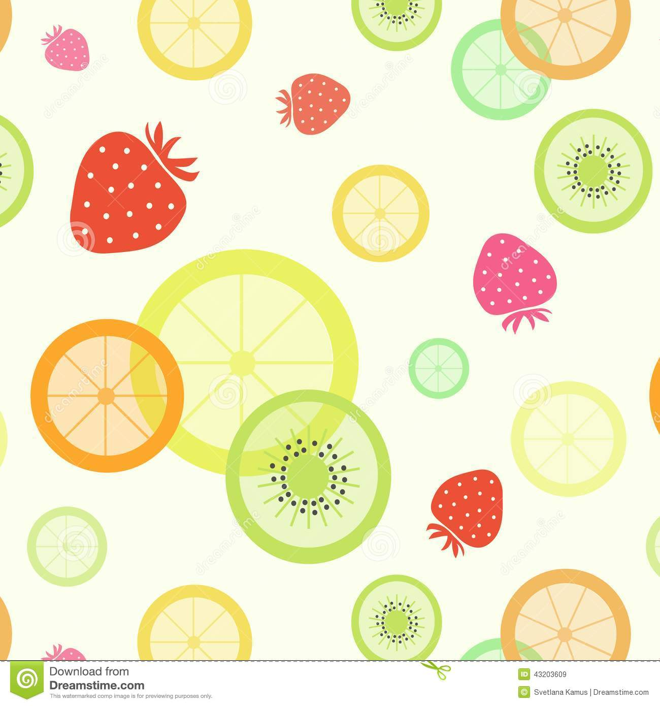 Fruit Pattern Stock Vector - Image: 43203609