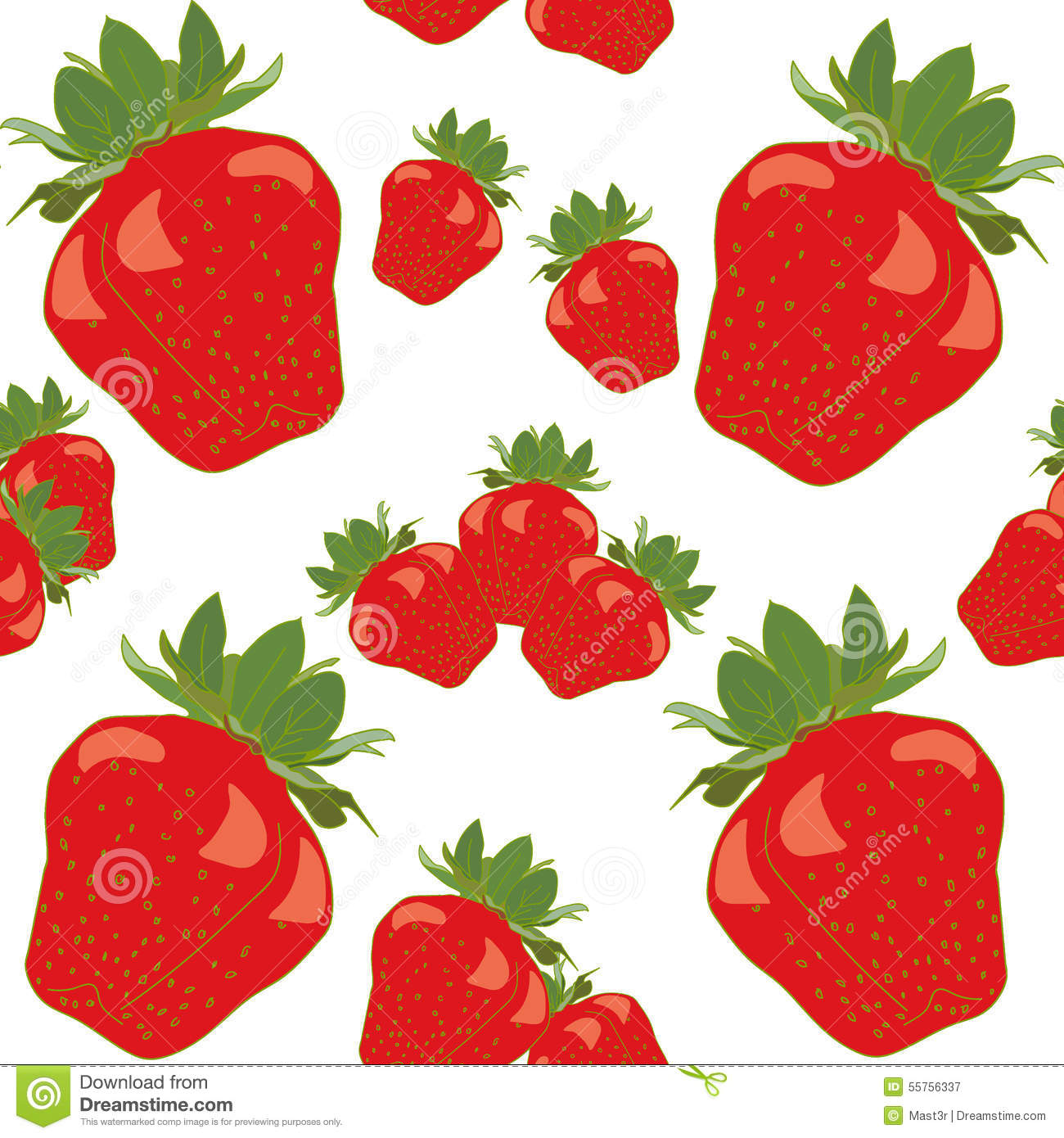 Fruit rouge Berry Colorful Seamless de fraise