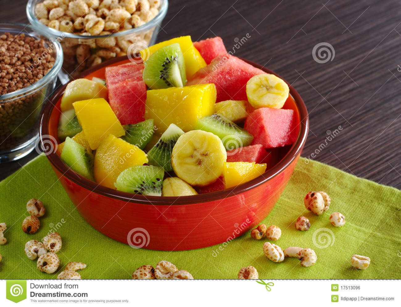 Royalty Free Stock Image: Fruit Salad with Cereals