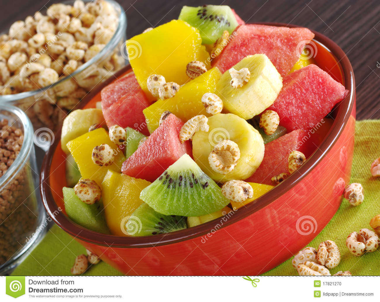 Stock Photo: Fruit Salad with Cereals