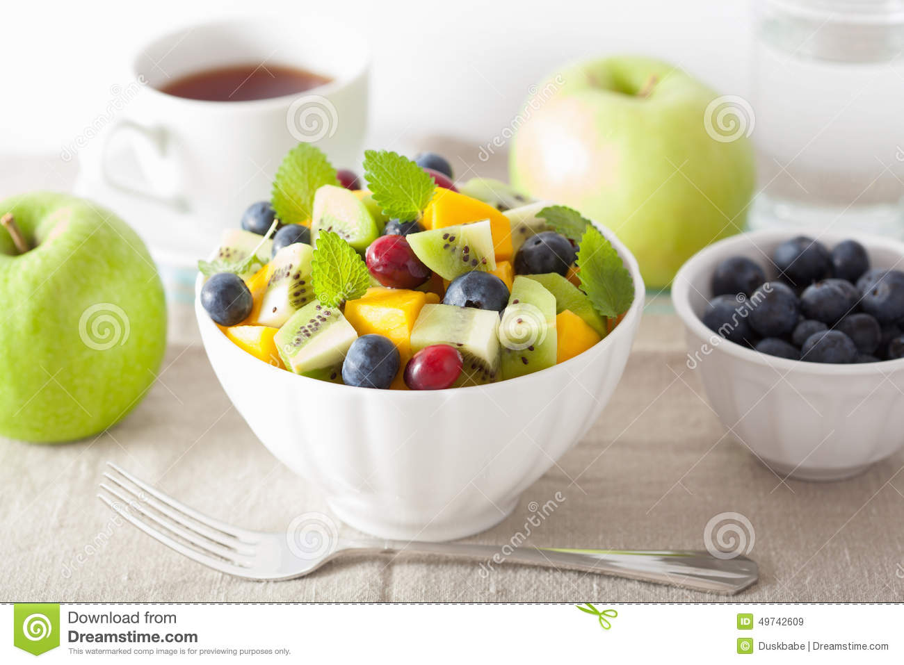 healthy fruit salad for breakfast kiwi fruit