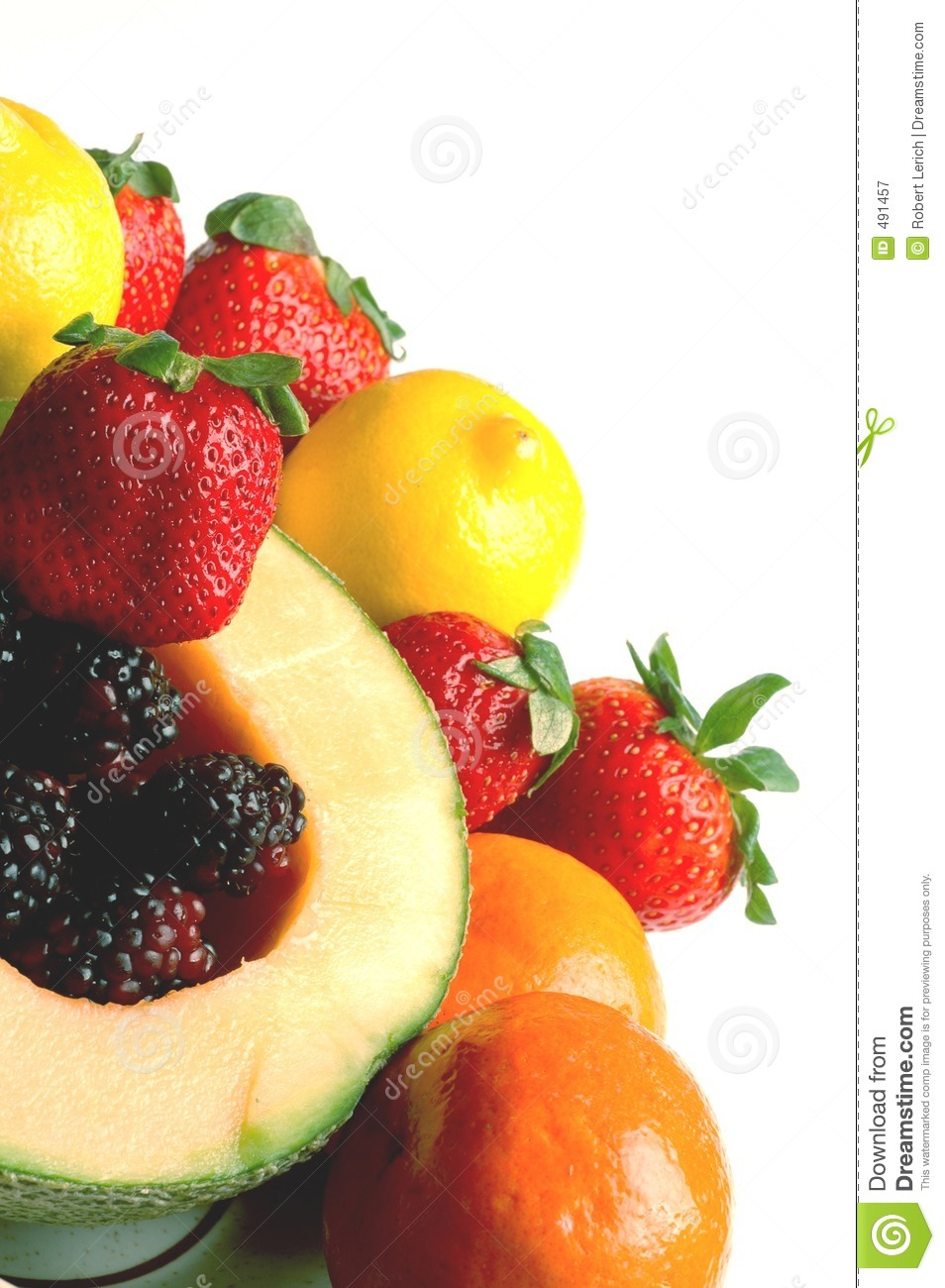 Fruit salad with space