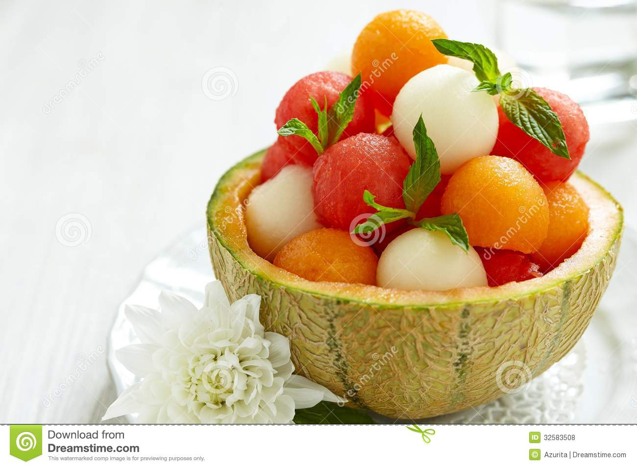 Fruit Salad With Watermelon And Melon Balls Royalty Free Stock Photos ...