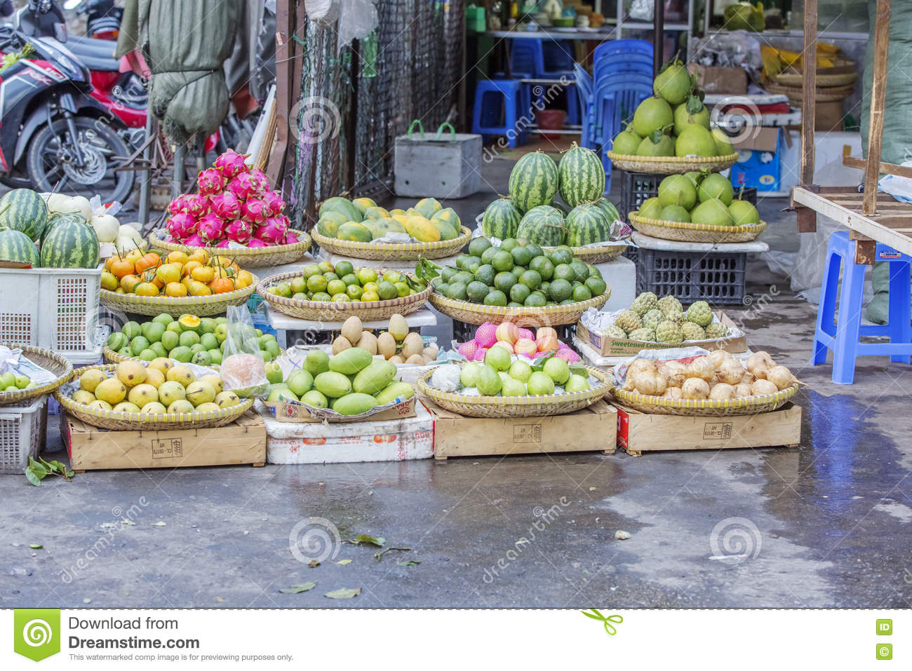 Fruit shop in market