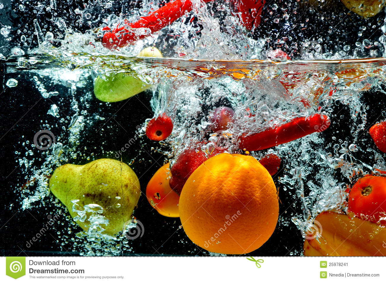 Fruit Splash On Water Stock Image Image 25978241